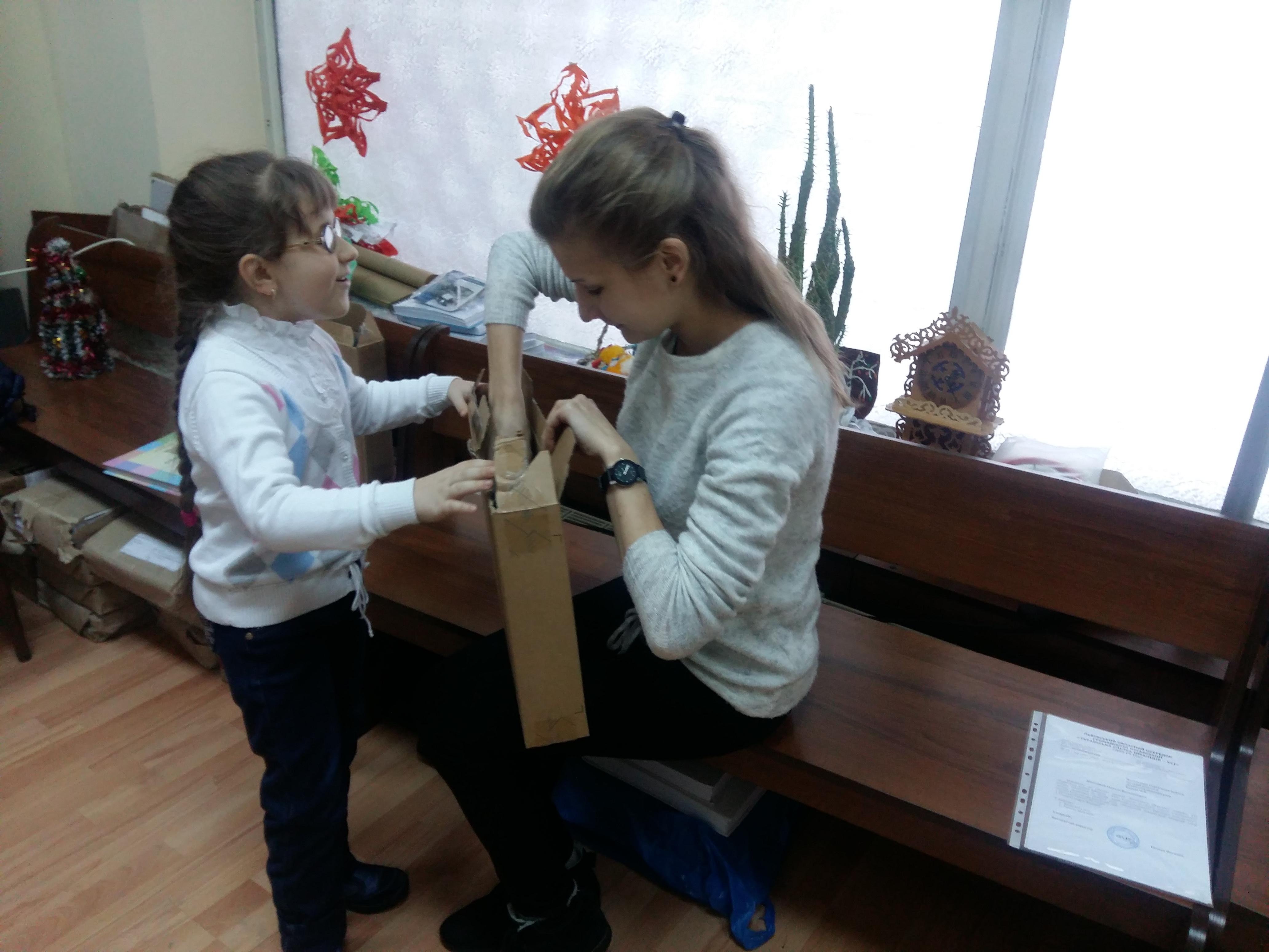Діанка Патерега отримала свій перший комп'ютер. Львів, 23.01.2017